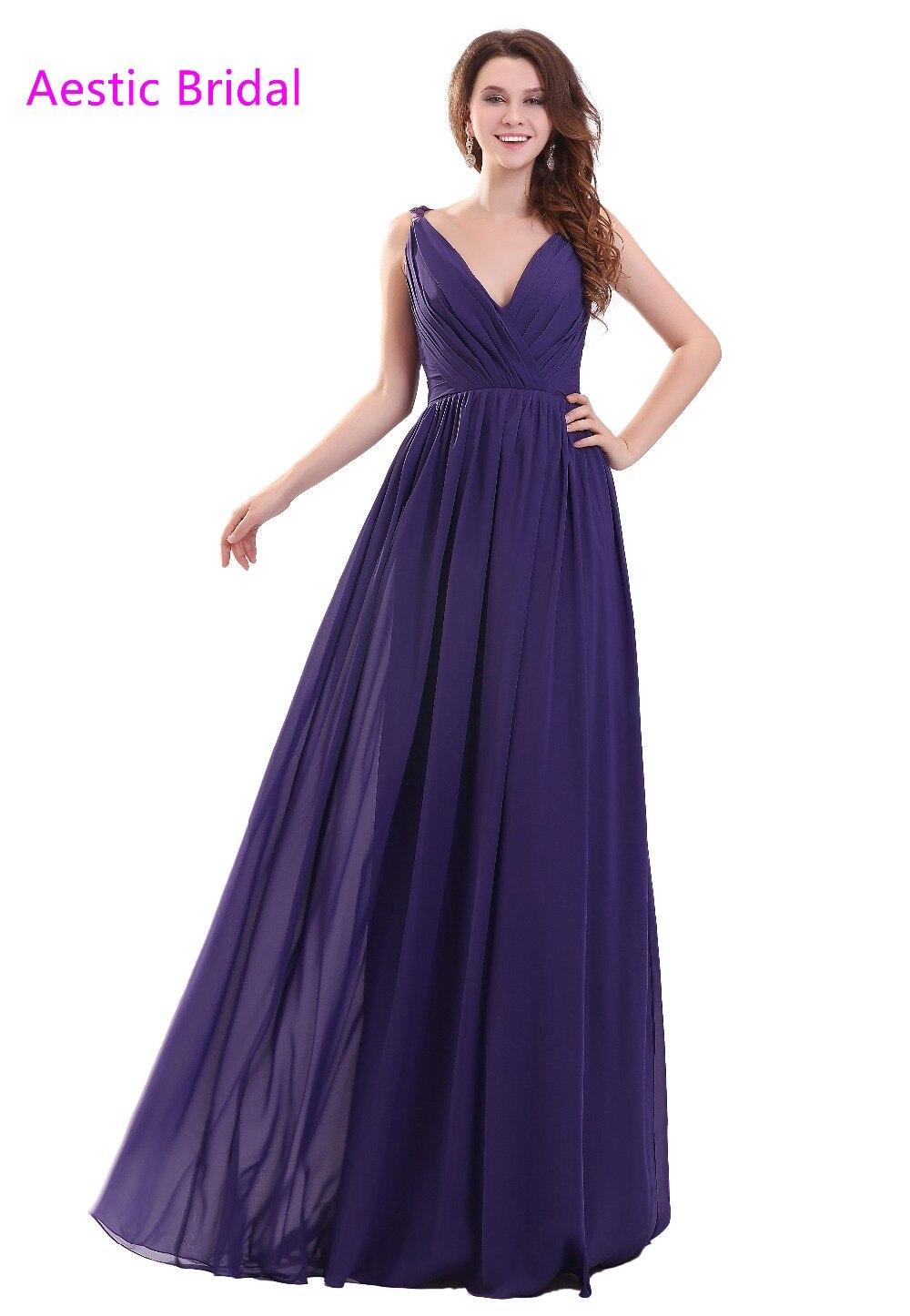 Deep blue bridesmaid dresses reviews online shopping deep blue royal blue deep v neck sleeveless ruched bodice chiffon a line bridesmaid dress vestido de festa longo ombrellifo Images