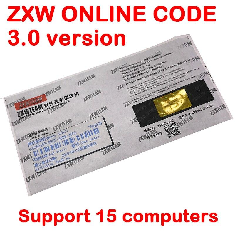 Equipe ZXW 3.0 Software Online Digital Código de Autorização Do Zillion x diagrama do circuito de Trabalho para o iphone iPad Samsung placa lógica