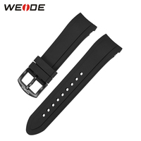 WEIDE Luxury Brand Men S Watch PU Strap With Stainless Steel Buckle Black Color Band Width