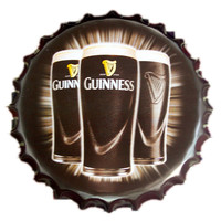 Guinness Beer Bottle Cap Vintage Tin Signs Wall Decor Stickers Decor Iron Retro Tin Metal Signs Plaque