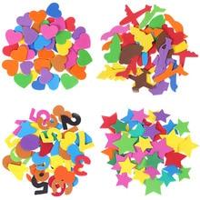 Foam paper ручные изделия «сделай сам» детские игрушки Губка патч самоклеющиеся Разноцветные детские наклейки детский сад