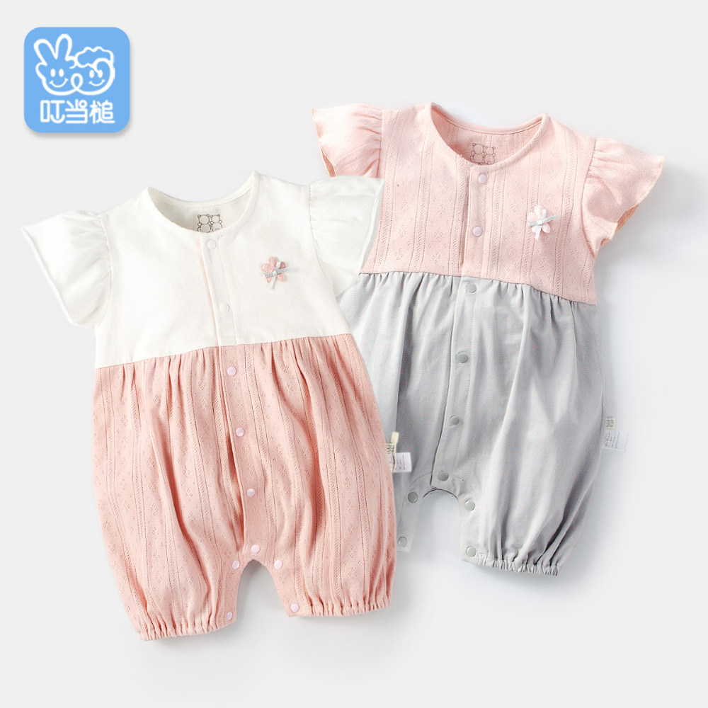 Dinstry New born baby clothes baby jumpsuit summer baby girl   romper