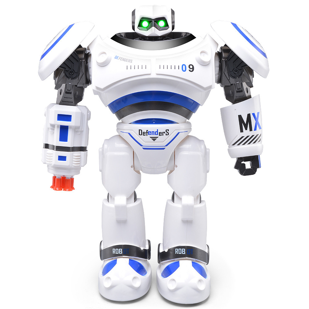 2017 Newest  JJRC R1 Intelligent Programmable Walking Dancing Combat Defenders RC Robot Perfect Gift To Children r1 intelligent rc robot programmable walking dancing combat defenders armor battle robot remote control toys for child gifts
