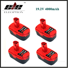 4 PCS ELEOPTION 19.2V 4000mAh Li-Ion Power Tool Battery For CRAFTSMAN C3 11374 11375 130285003 CRS1000 10126 11569 11585