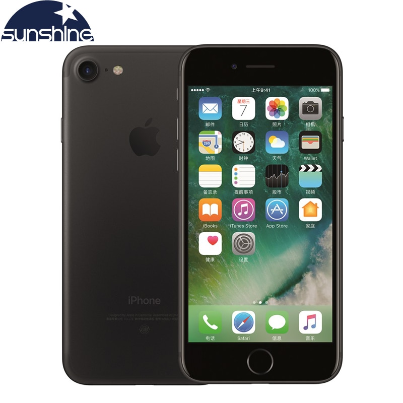 Original unlocked Apple iPhone 7 4G LTE Mobiltelefon 2G RAM 256GB / 128GB / 32GB ROM Quad Core 4.7''12.0 MP Fingerprint Camera Phone