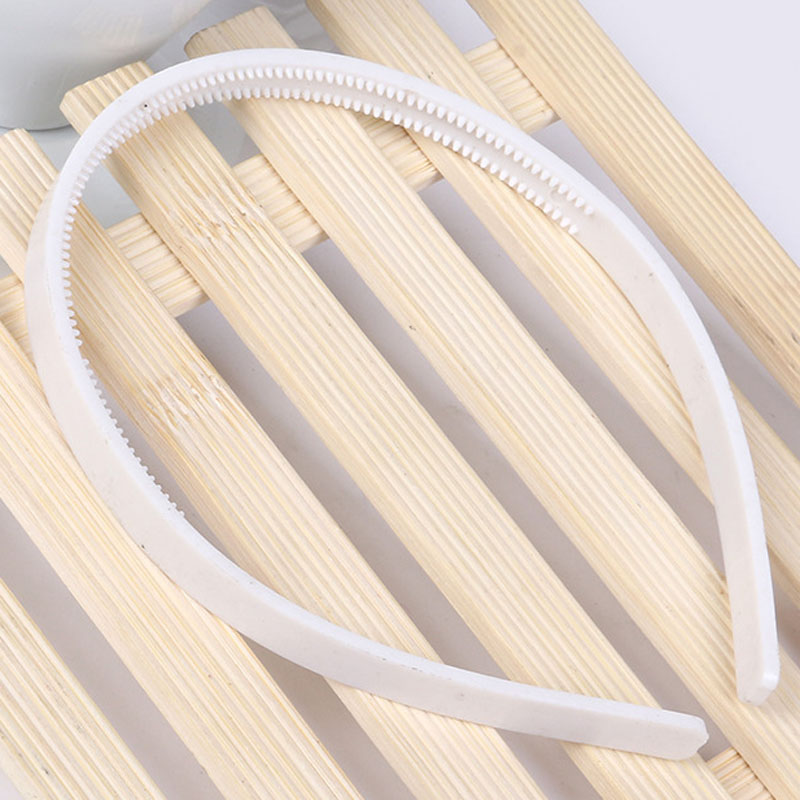 20pcs/lot 10MM wide White Black Plain Plastic Headband Kid Hard Hair Band For girls  teens women hair accessories DIY Hair Tools high quality abs 10mm black white plain lady plastic headband no teeth diy resin headband hair accessories headwear