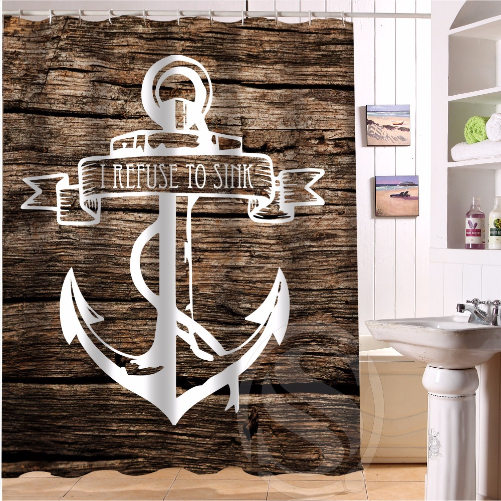 Fashion Boutique Wood And Anchor #5 Custom Shower Curtain