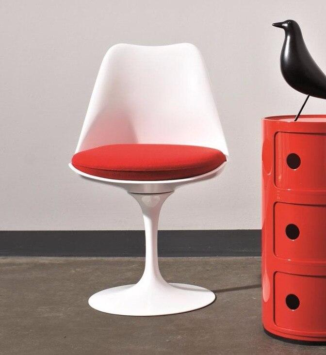 Chaise tulipe classique avec Base en aluminium chaise tulipe pivotante moderne en plastique pivotant hôtel chaise tulipe bureau ordinateur chaise d'étude