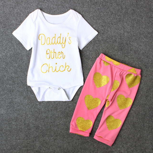 2017 Newborn Baby Girl Clothes Tiny Cottons Daddy S Other Chick Baby