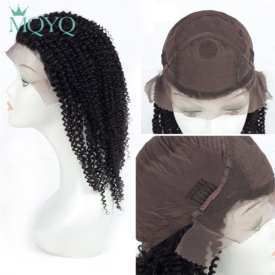 Silk Base Top Lace Frontal Human Hair Wigs For Women Natural Black Pre Plucked 130% Density Brazilian Curly Remy Hair Wig