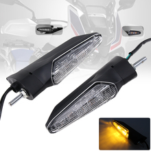 2 Pcs Sequential Turn Front/Rear Lights Motorcycle Signals Flasher Blinker Intermittent Universal Indicators Led moto