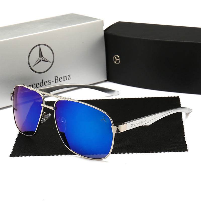 49d2feb2d143 New aluminum-magnesium Mercedes-Benz sunglasses Trendy fashion classic polarized  men's sunglasses