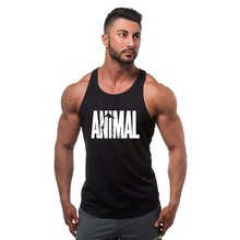 Brand Gymwear 100%Tank Top Men Bodybuilding Stringer Male ANIMAL Printing Fitness Singlet Sleeveless Shirt Workout Clothes Golds
