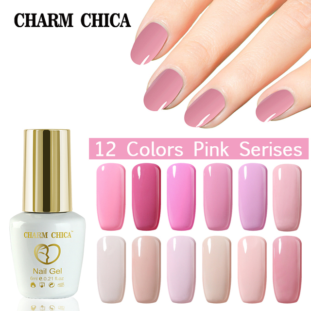 CHARM CHICA Gel Nail Polish UV 6ml Nude Pink Soak Off Gel