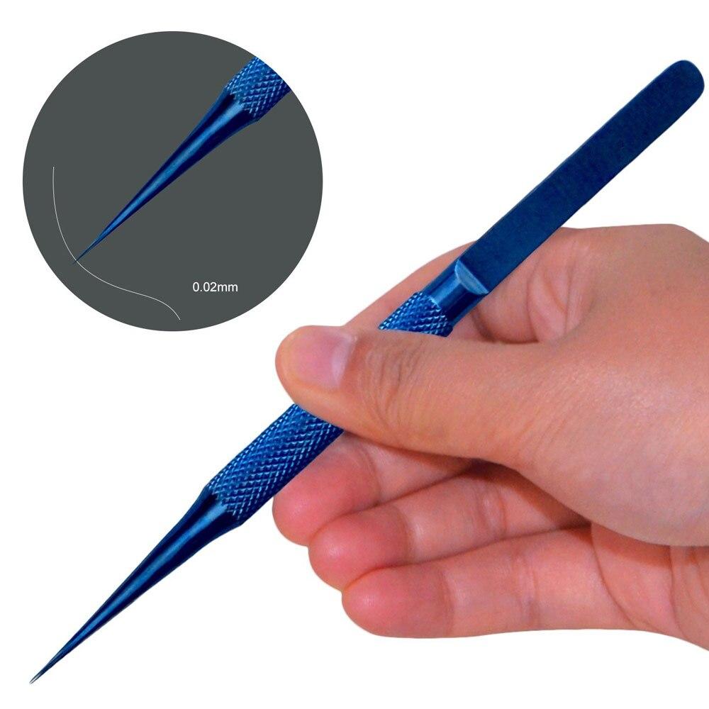 Image 5 - Titanium alloy tweezers professional maintenance tool 0.15mm edge precision fingerprint tweezers Apple main board copper wire-in Industrial Tweezers from Tools