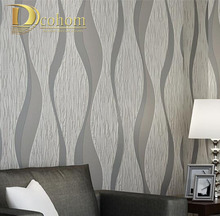 Sala de estar Sofá Blanco Gris Rayas Diseño 3D Papel De la Pared Decoración Para el Hogar Moderno Rollo de Papel de Pared Papel Pintado A Rayas Geométrica R509