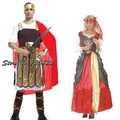 Free shipping!!Halloween adult couples costumes for men and women Male king prince and princess Elegant queen cos clothing