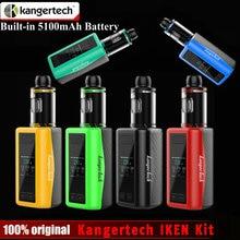 D'origine Kangertech IKEN Kit 1.54 pouce TFT Affichage Écran 4 ml Réservoir 230 W Boîte Mod Intégré 5100 mAh batterie e Cigarette Vaporisateur Mod