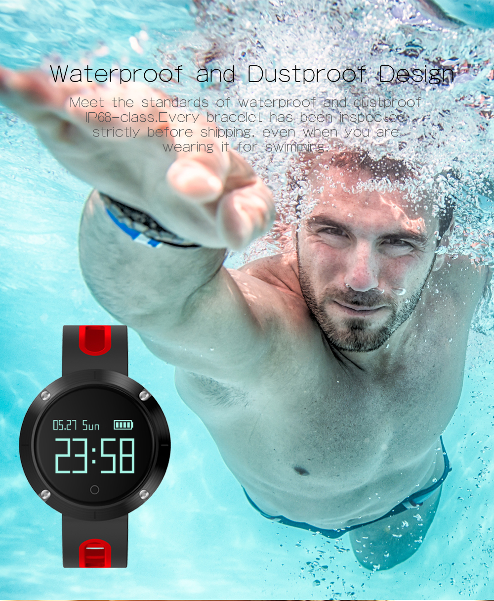 MAKIBES DM58 BLUETOOTH SPORTS HEART RATE SMART BAND WITH BLOOD PRESSURE MONITOR IP68 WATERPROOF WRISTBAND 237054 37