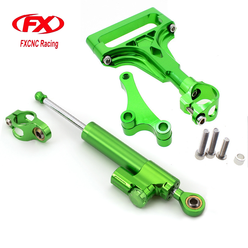 For Kawasaki Z1000 Z750 2003-2009 Motorcycle Aluminum CNC Adjustable Steering Damper Stabilizer Mounting Bracket Support Kits motorcycle aluminum cnc direction steering damper steering mounting kit stabilizer adjustable for bmw s1000rr hp4 2009 2016