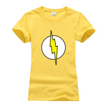 5b3e1452 hip hop fitness brand clothes 2019 summer camiseta super hero flash cosplay t  shirt femme fashion women's Sheldon Cooper T-shirt