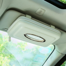 Exclusive PU Leather Car Sun Visor Tissue Box Holder