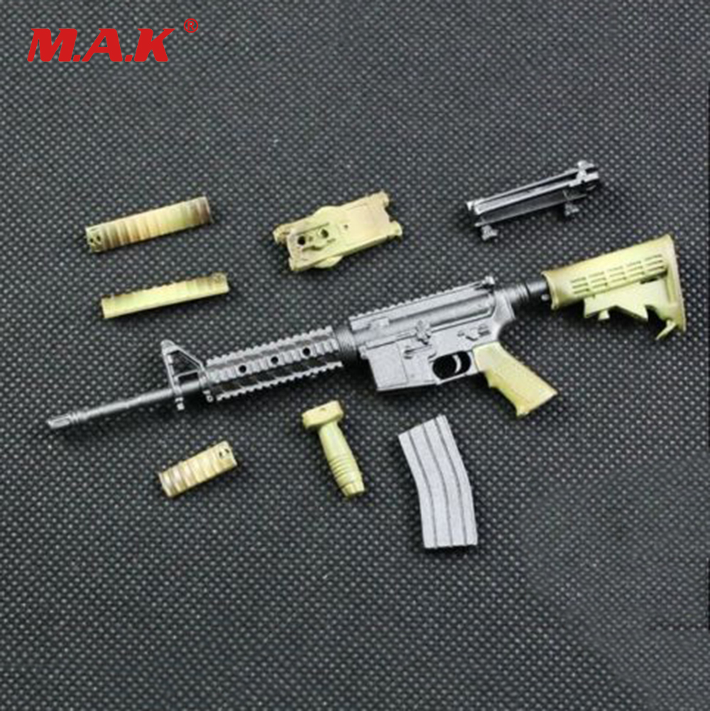 1:6 Scale WWII Camouflage M4A1 Submachine Gun Weapon Model DIY Assemble Toy For 12 Action Figure a model for developing rating scale descriptors