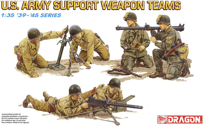 Dragon 6198: 1/35 WWII US Army Infantry Support Weapon Teams (6 Figures!)