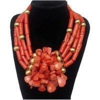Модный Ювелирный Набор для женщин из натуральной Африки Свадебные бусы Набор 4 слоя Эдо свадебное ожерелье набор бренд бесплатная доставка