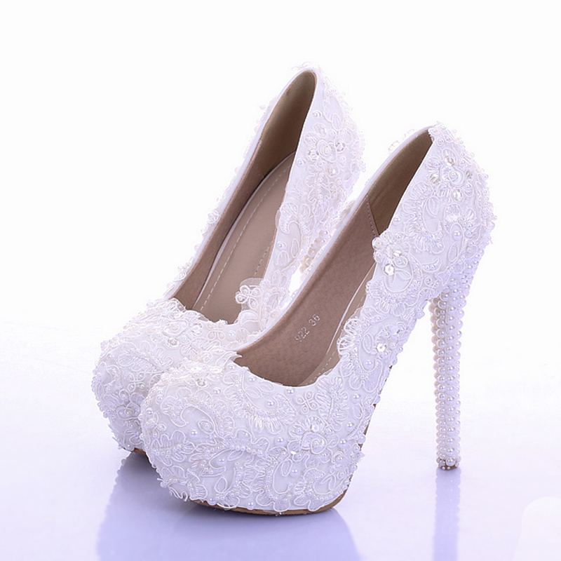 318244c2d3c6a Sparkling White Lace Bridal Dress Shoes Handmade Wedding Shoes Real ...