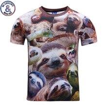 Mr 1991INC Brand New Style Funny 3D Print T shirt Animal Sloth Women font b Men