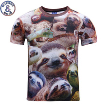 Mr.1991INC Brand New Style Funny 3D Print T shirt Animal Sloth Women Men's T-shirt Homme Summer Tops Clothing S-XXL