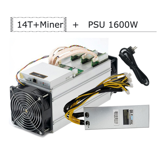 BTCEminer New AntMiner S9 14T Bitcoin Miner With Power Supply ASIC BTC Mining Machine