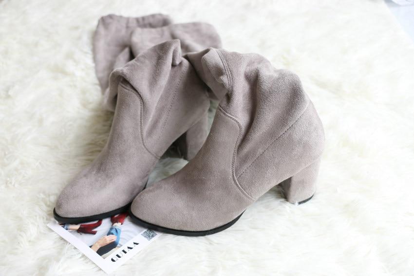 Women Over The Knee High Heel Winter Sexy Boots 44