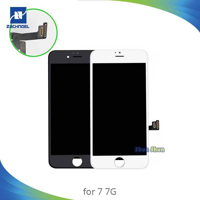 AAA Grade 7g <font><b>7</b></font> plus Volle <font><b>LCD</b></font> für <font><b>iPhone</b></font> <font><b>7</b></font> 7g Plus <font><b>LCD</b></font> Display mit Touch Screen Digitizer montage Schwarz Weiß Ersatz Teile image