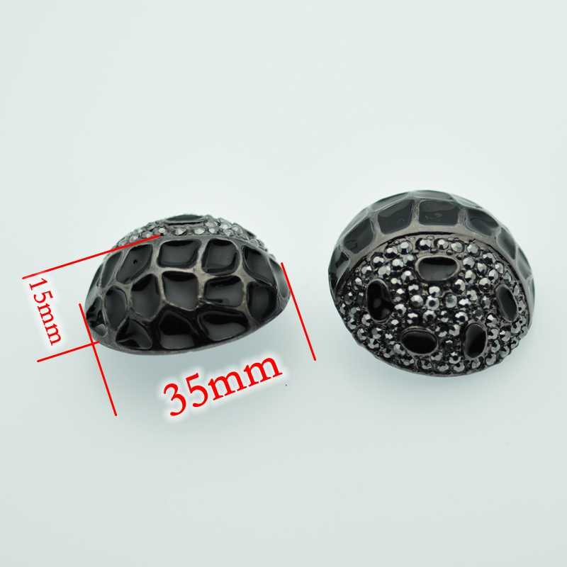 d1560b42a3 Free shipping 35mm craft supplies metal rhinestone embellishments sewing  buttons for fur coats ,clothing ,wedding accessories