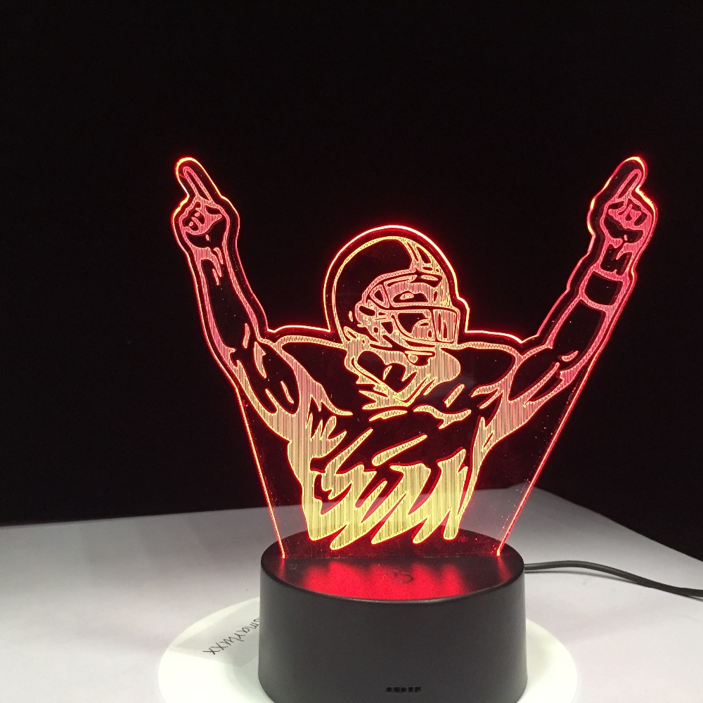 Novelty 3D Table Lamp Motocross Bike Champion Man Night Lights LED USB 7 Colors Sensor Desk Lamp as Holiday Gifts Drop Shipping usb novelty gifts 7 colors changing animal horse led night lights 3d led desk table lamp as home decoration