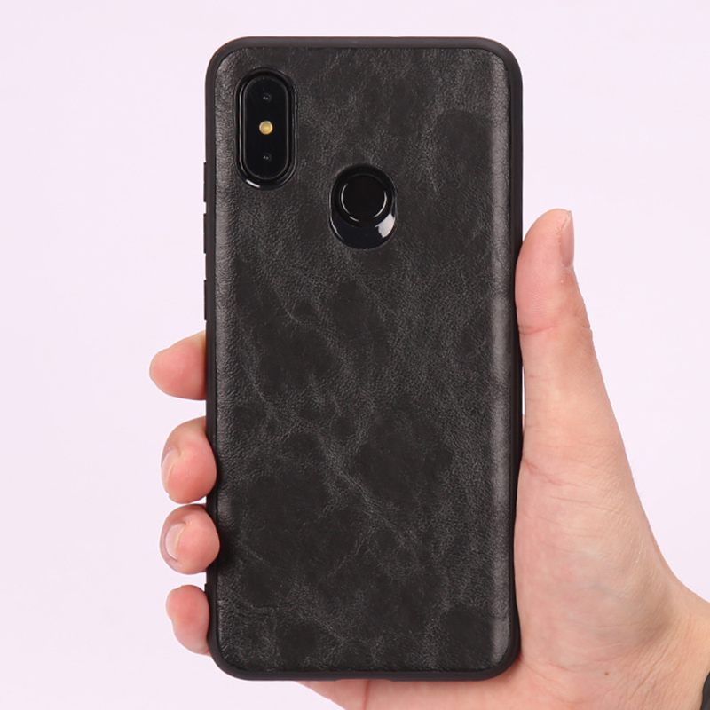 Caja del teléfono para Xiaomi mi 8 A1 A2 Lite mi x 2 S 3 Max 3 Retro aceite cera de la piel de cuero suave TPU borde rojo mi nota 5 6 Pro 6A