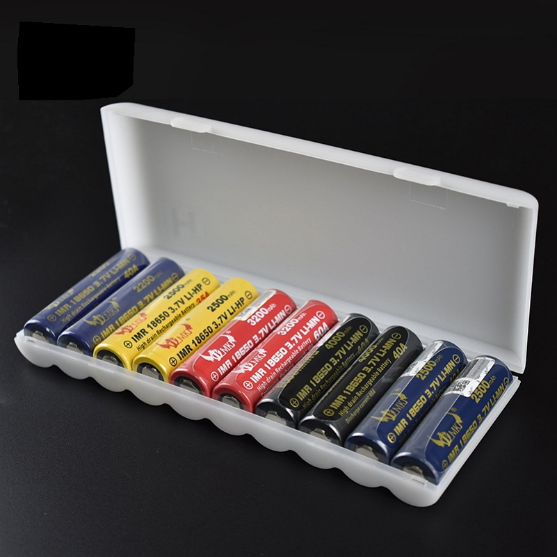 1PC 10X18650 Battery Holder Case 18650 PP Battery Storage Box Holder White Hard Case Cover Battery Holder Organizer Container motorcycle bikes battery box black pp shell
