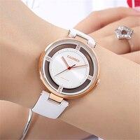 2018 New Luxury Brand CADISEN Women Leather Watch Fashion Geneva Famale Watches Lady Quartz Wrist Watches Relogio Mujer Gift