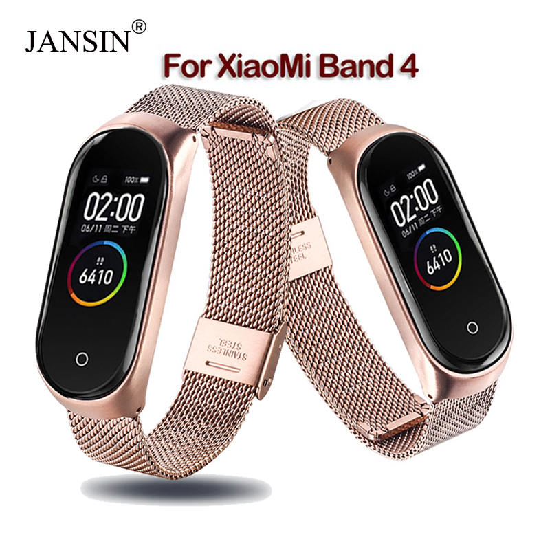 Mi band 4 strap Metal Stainless Steel For Xiaomi Mi Band 4 strap Bracelet miband 4 Accessories Replacement Watch band