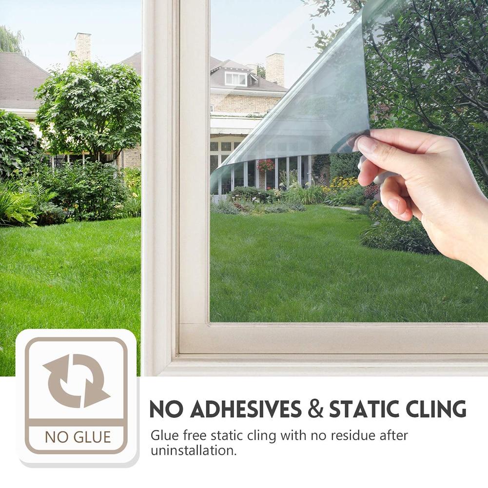 Privacy Window Film One Way  Sticker Decorative Solar Reflective Anti-UV