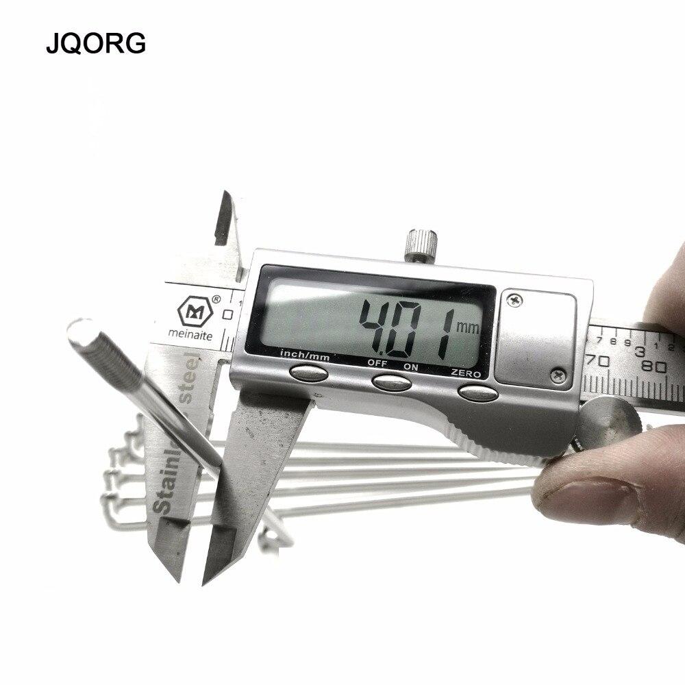 JQORG 50 個ロットオートバイスポーク直径 4.0 ミリメートル J BEND 304 ステンレス鋼材料モトクロスホイールスポークとニップル  グループ上の スポーツ & エンターテイメント からの 自転車のスポーク の中 2