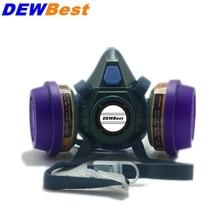 DEWBest 6021 высокое качество фильтр маска силиконовый респиратор противогаз краска спрей пестициды Промышленная защитная маска