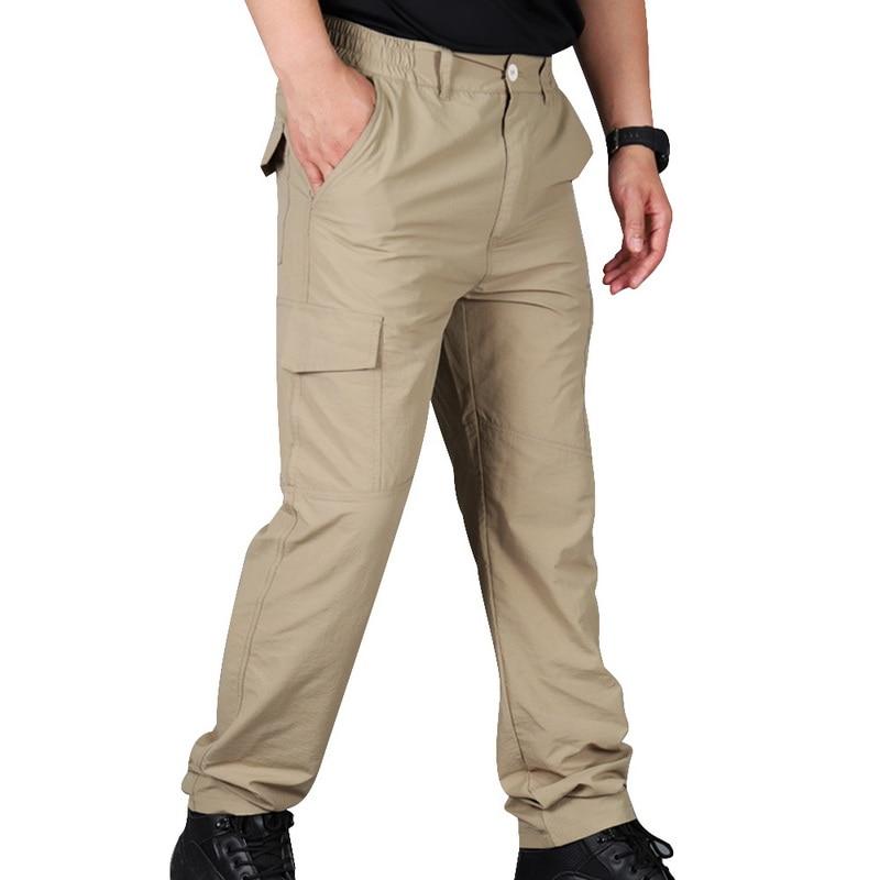 Мужские брюки карго, быстросохнущие брюки карго для тренировок в Военном Стиле, спортивные брюки большого размера 5XL 6XL, брюки для бега, осень 2019|Повседневные брюки|   | АлиЭкспресс