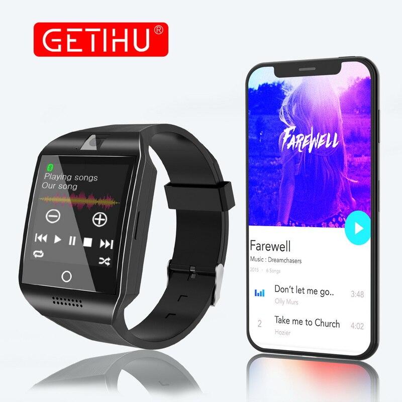 GETIHU Montre Smart Watch Hommes Pour Apple Android Appareil Photo Numérique Smartwatch DZ09 Q18 Bluetooth Téléphone Pour iPhone Samsung HUAWEI PK GT08 A1