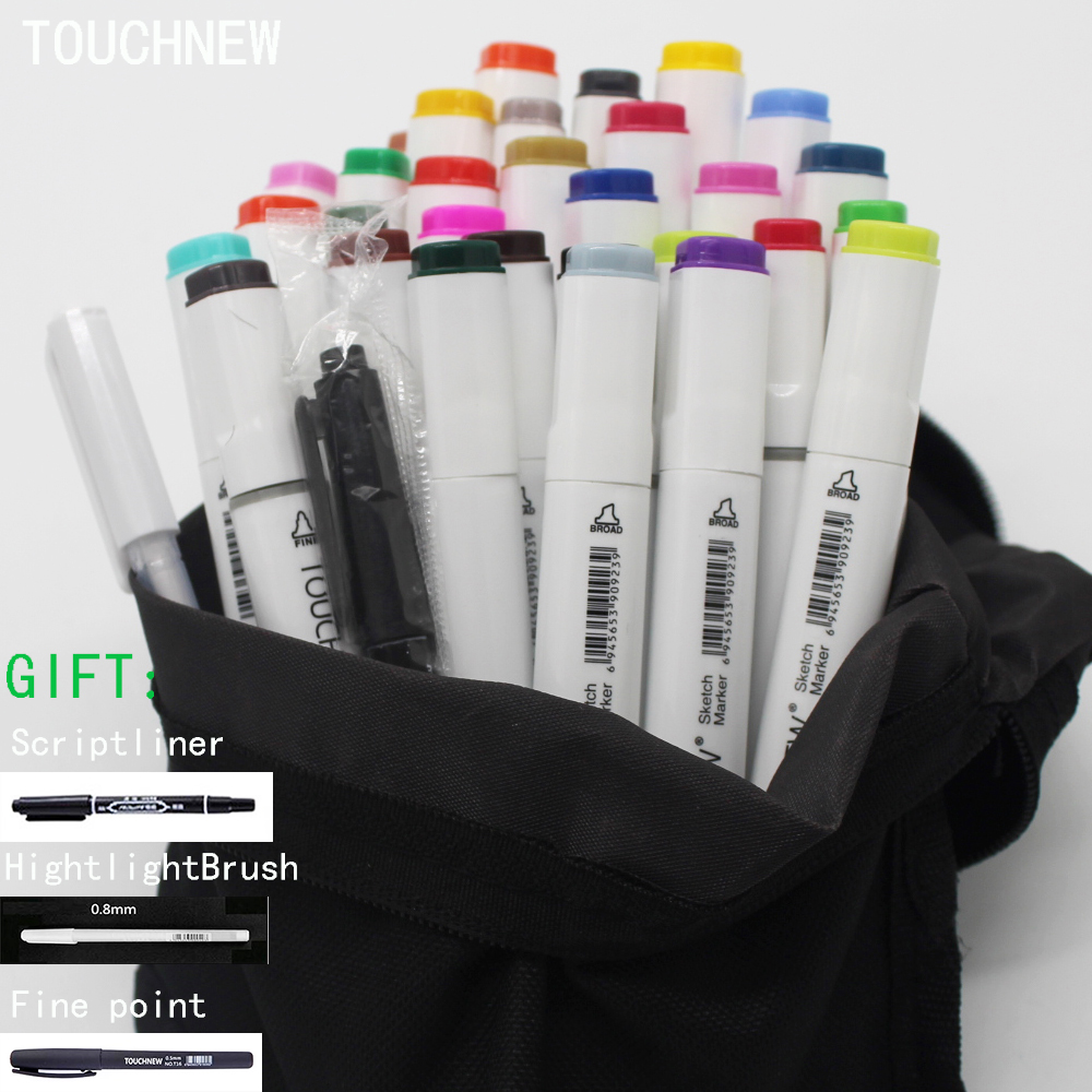 Free shipping six generation art Mark pen alcohol oily double-headed suit 30 36 48 color touchnew markers dessin manga drawings w110145 soft head fine water mark pen 48 60 color beginners painting professional equipment advanced ink student art suit