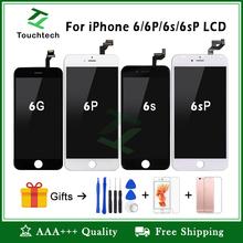 Biały amp czarny 100 OEM tęcza pod kątem iPhone 6 6 Plus 6s Plus LCD tęcza wymiana wystawa rezygnować 3D dotknąć tęcza Digitizer Zgromadzenie tanie tanio Jabłko iPhone 3 Technologia Touchtech Ekran pojemnościowy IPhone 6s Plus 1334x750 pikseli Czarno-białe Testowane jeden po drugim