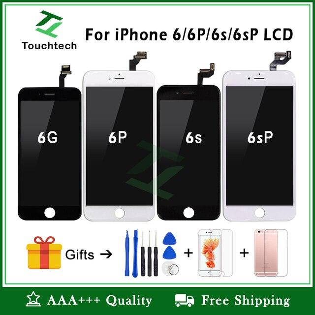 Trắng và Đen 100% OEM Màn Hình Dành Cho iPhone 6 6 Plus 6 S 6 S Plus Màn Hình LCD Thay Thế Màn Hình Hiển Thị với 3D bộ Số Hóa cảm ứng