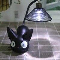 2018 Anime Studio Ghibli Miyazaki Hayao JiJi Cat Toy Night Light For Child Led Lamp Home